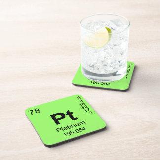 Periodic Table of Elements (Platinum) Coaster