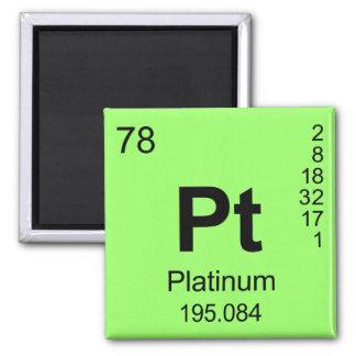 Periodic Table of Elements (Platinum) Magnet