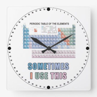 Periodic Table of Elements Wall Clocks