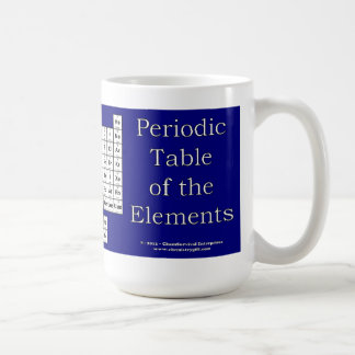 Periodic Table of the Elements Mug - Blue