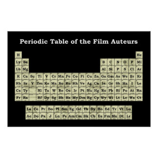 Periodic Table of the Film Auteurs Poster