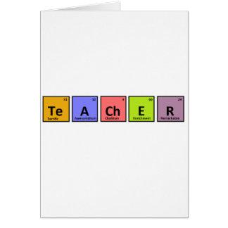 Periodic Table Teacher Appreciation Greeting Card