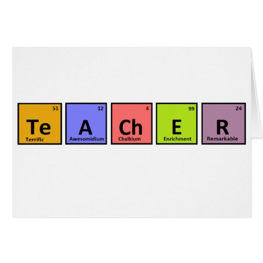 Periodic Table Teacher Appreciation Card