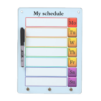 Periodic table weekly schedule dry erase board