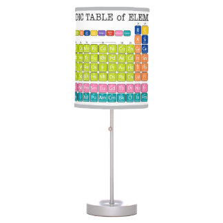 Periodically Periodic Table of Elements Table Lamp