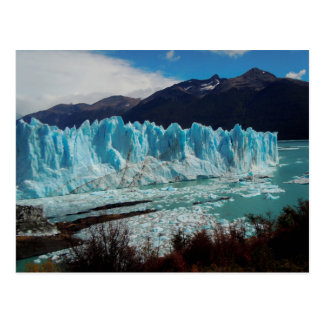 Perito Moreno Glacier Front In The Andes Postcard