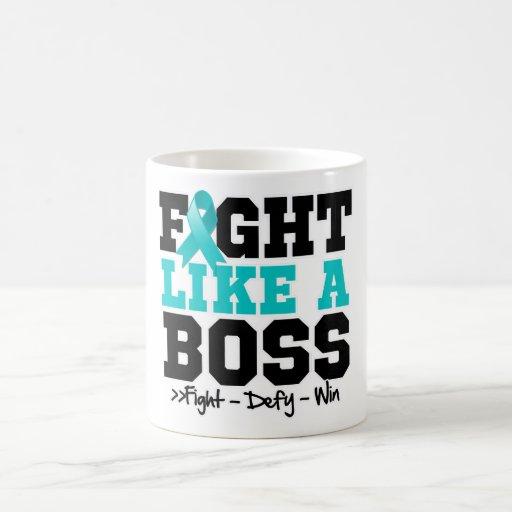 Peritoneal Cancer Fight Like a Boss Coffee Mug