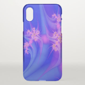 Periwinkle and  Pink Floral Art iPhone X Case