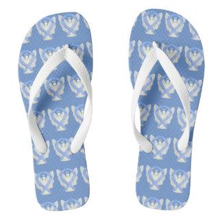 Periwinkle Awareness Ribbon Angel Flip Flops