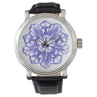 Periwinkle Blue Antique Vintage Rosette Watch