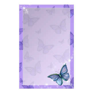 Periwinkle Blue Butterfly Fantasy Art Stationery