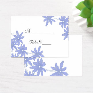 Periwinkle Blue Daisies Wedding Place Cards