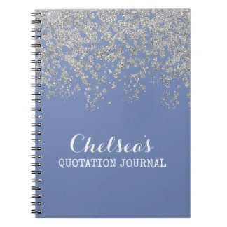 Periwinkle Blue Glam Chelsea Notes Notebook