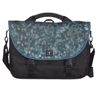 Periwinkle Blue Painted Glitter Shimmer Laptop Bags