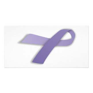 Periwinkle Cancer and Political Statement Ribbon Picture Card