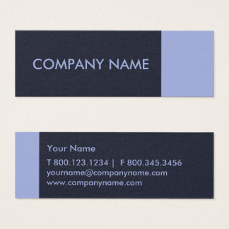 Periwinkle Denim Blue Modern Mini Business Card