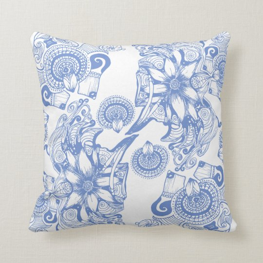 Periwinkle Flower of Power Throw Pillow