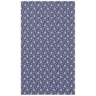 Periwinkle Flower Power Skulls Tablecloth