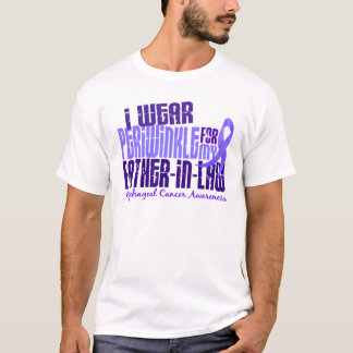 Periwinkle For Father-In-Law 6.4 Esophageal Cancer T-Shirt