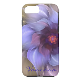Periwinkle Fractal Flower iPhone 7 case
