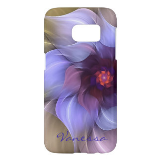 Periwinkle Fractal Flower Samsung Galaxy S7 Case