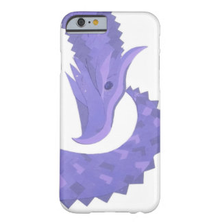 Periwinkle heart dragon on white barely there iPhone 6 case
