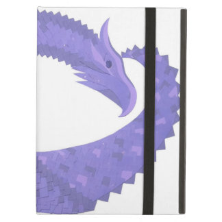 Periwinkle heart dragon on white iPad air cover