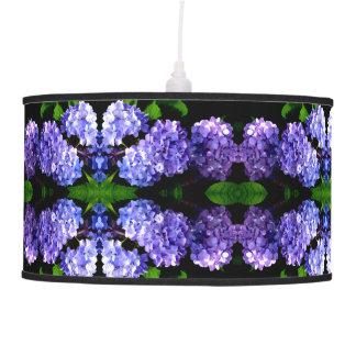 Periwinkle  Hydrangeas Pendant Lamp