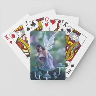 Periwinkle Mushroom Fairy Classic Playing Cards