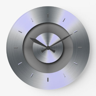 Periwinkle Overtones Matching Color Large Clock