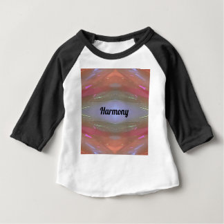 Periwinkle Peach Artistic Harmony Baby T-Shirt