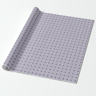 Periwinkle Purple Weave Pattern Wrapping Paper