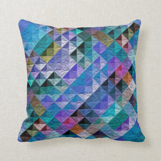 Periwinkle Quilty Throw Pillow