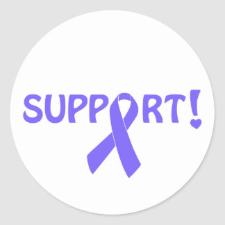 Periwinkle Ribbon Support! Classic Round Sticker