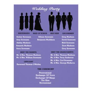 Periwinkle & Silver Heart Polka Dot Wedding Flyer