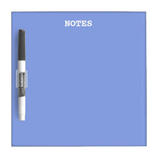 Periwinkle Solid Color Dry Erase Board