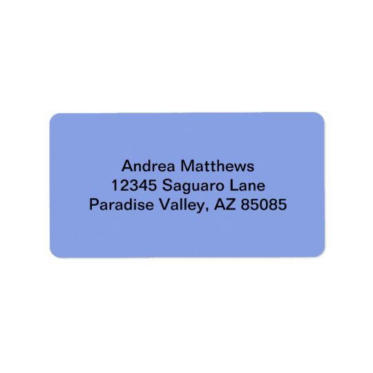 Periwinkle Solid Colour Label