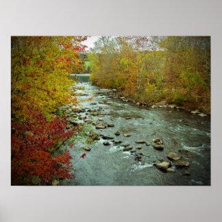 Perkiomen Creek in Autumn  Green Lane Pennsylvania Poster