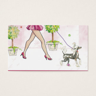 Perky Chinese Crested Dog Business Card