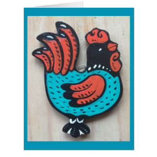 Perky Friendly Rooster Card