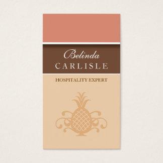 Perky Pineapple Biz Card (Peach)