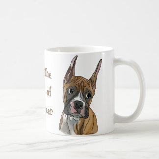 Perky Red Fawn Boxer Dog Coffee Mug