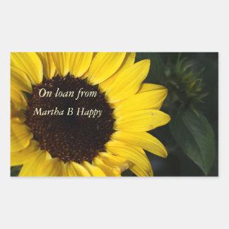 Perky Sunflower Bookplates Sticker