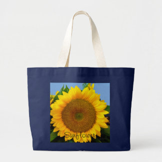 Perky Sunflower Large Tote Bag