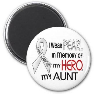 Perle dans la mémoire de mon cancer de tante magnet rond 8 cm