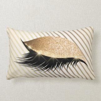 Perle d'ivoire de scintillement d'or de mèches de oreiller