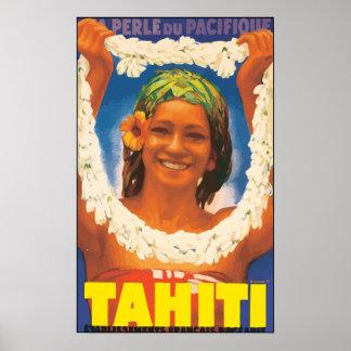 Perle Du Pacifique Tahiti, Vintage Poster