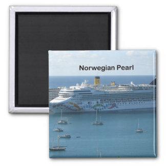 Perle norvégienne magnet carré