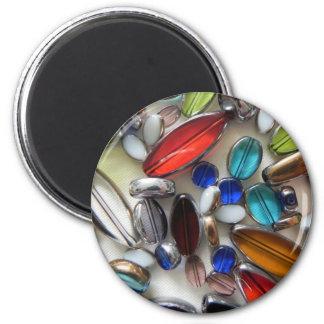 perles en cristal colorées multi magnet rond 8 cm