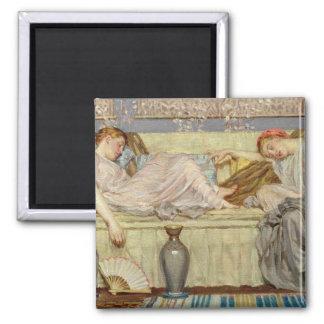 Perles (étude), c.1875 (huile sur la toile) magnet carré